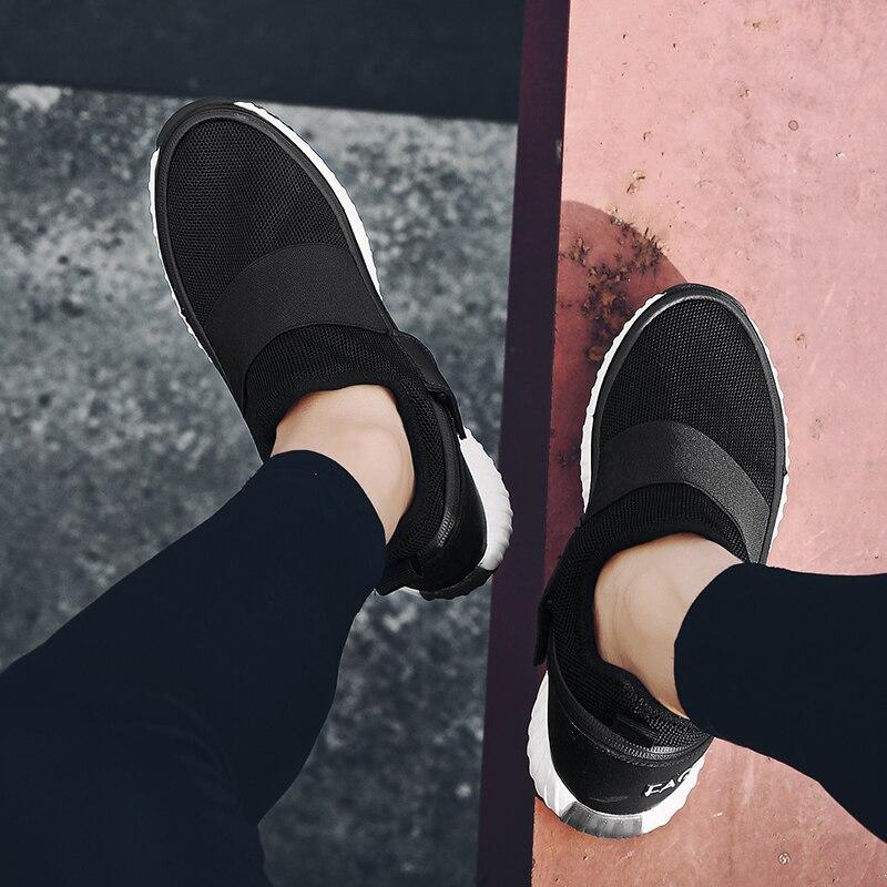 2019 nuevos zapatos de hombre 3 en 1 zapatos cambiados jóvenes fiesta Casual pisos estudiantes moda Flykint malla zapatos de negocios para adultos - 2