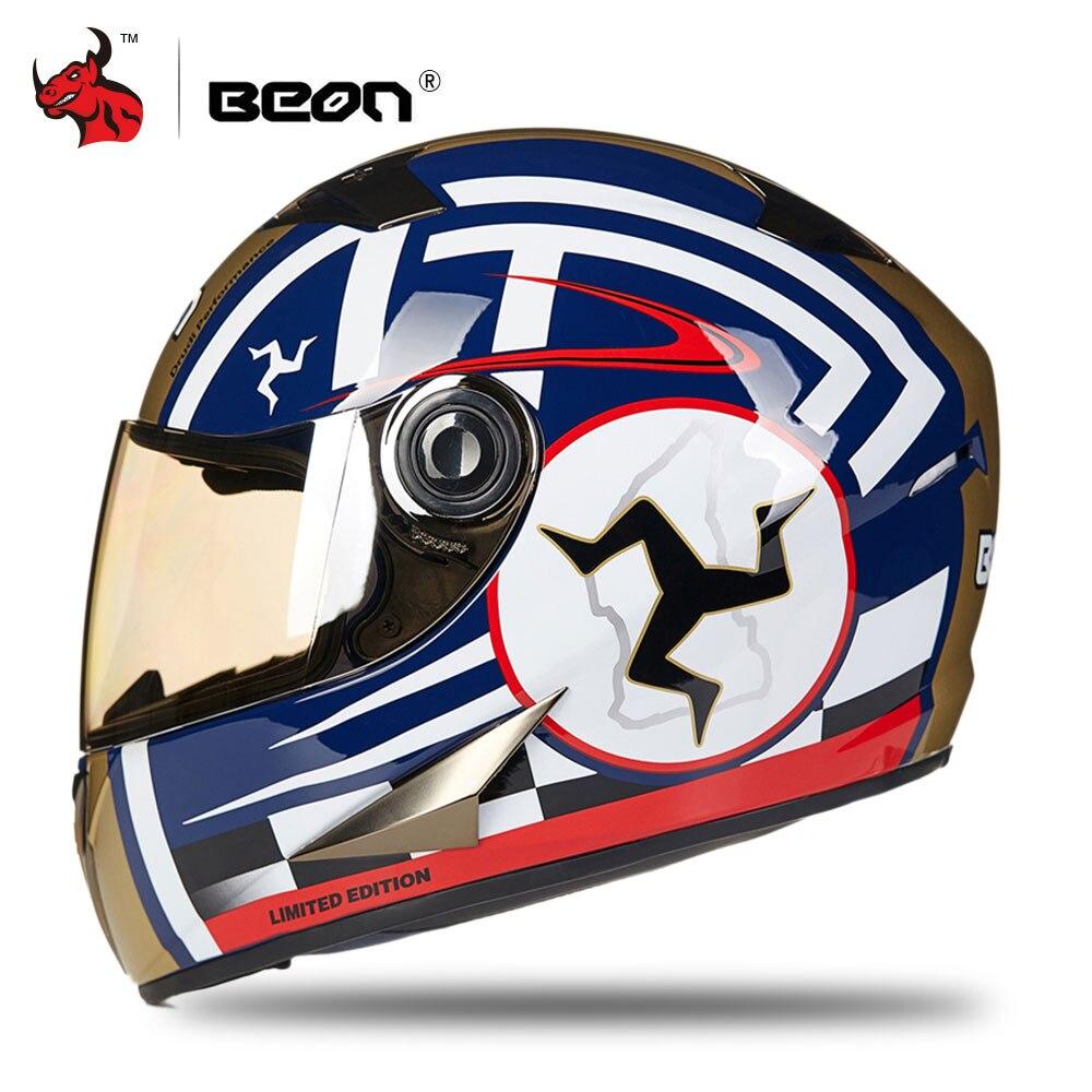BEON Motorcycle Helmet Men Motocross Helmet Casco Moto Moto Full Face Retro Scooter Helmets Motorbike Riding