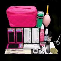 Professional False Eyelash Extension Cosmetic Set Natural Cluster Long Individual Lashes Kit Makeup Set