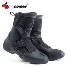 купить DUHAN Motorcycle Boots Men Superfiber Motorcycle Road Racing Shoe Moto Motocross Boots Bota Motociclista Black по цене 6747.59 рублей