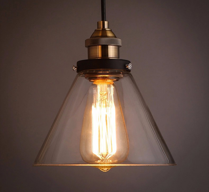 Loft Vintage Pendant Lights Clear Glass Antique Edison Pendant Lamps 110V 220V Dinning Room/Restaurant Home Decoration Lighting diy vintage lamps antique art spider pendant lights modern retro e27 edison bulb 2 meters line home lighting suspension