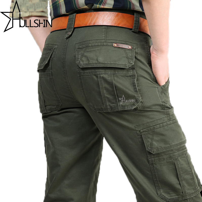 Hullshin Military Cargo Pants Men Casual Trousers
