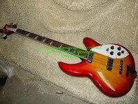 Оптовая продажа высокого качества Rick Полу полый Rick Вишневый красный 4 струны для электрической Басс гитары Бесплатная доставка