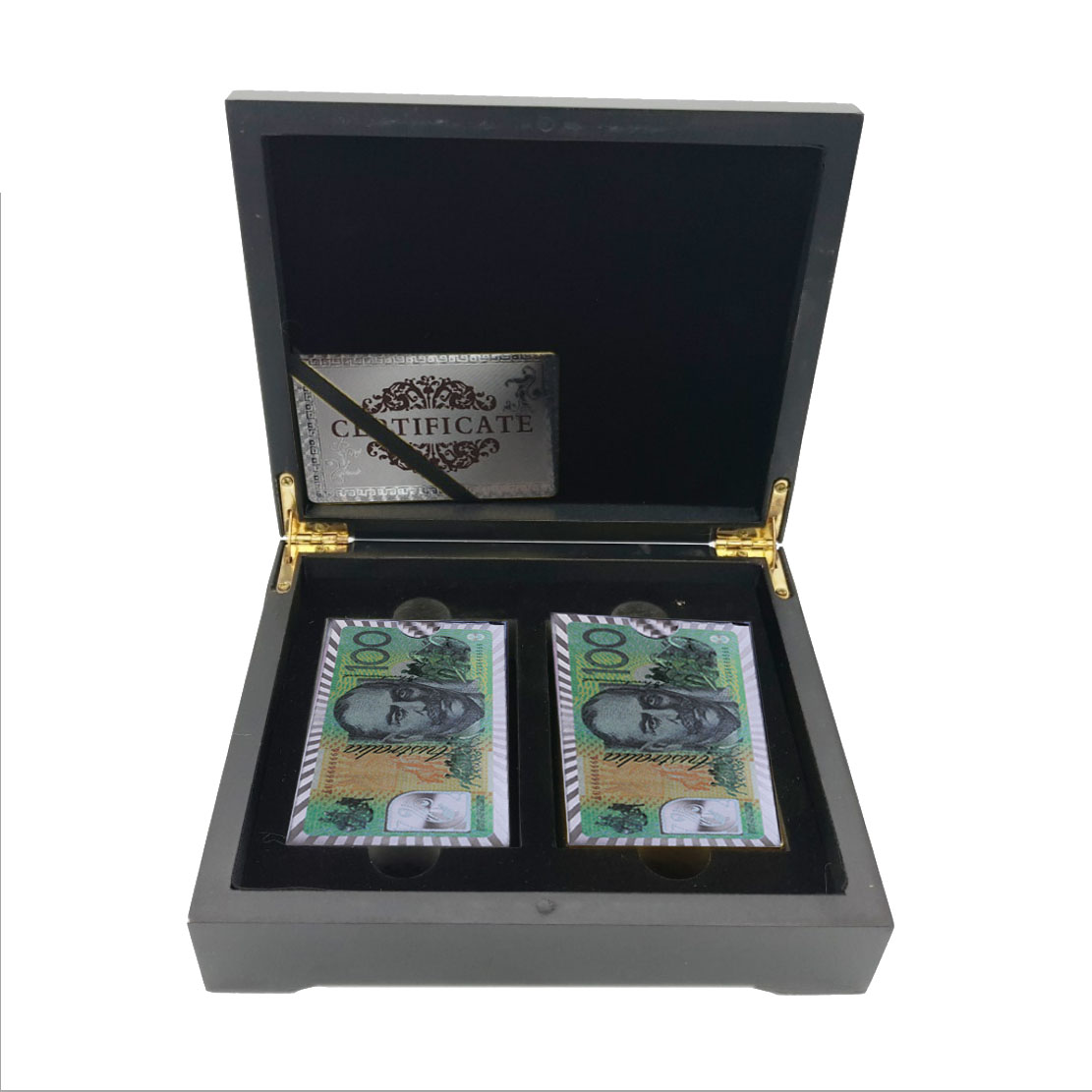 United Arab Emirates 100 999 9 Silver Plated Banknote Double Playing Card In Box Personalized Gifts in Party Favors from Home Garden