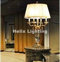 European Modern Newly D500mmH800mm Golden Crystal Table Light Desk Light Wedding Candelabra For Table Lamp AC