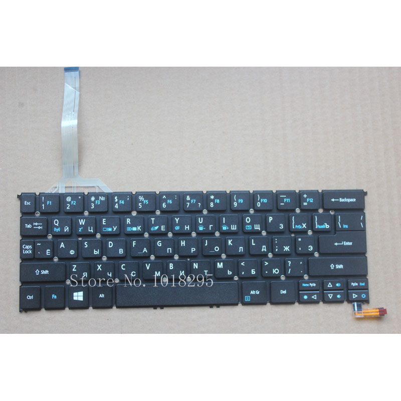 Russian Laptop Keyboard for Acer Aspire s3-392 s3-392G with Backlit RU Black