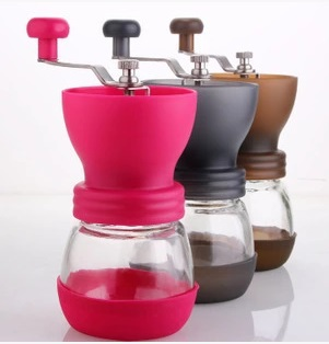 1pc 3 colors Hand grinder ceramic core coffee beans grinder mill Adjustable thickness degree Washable portable