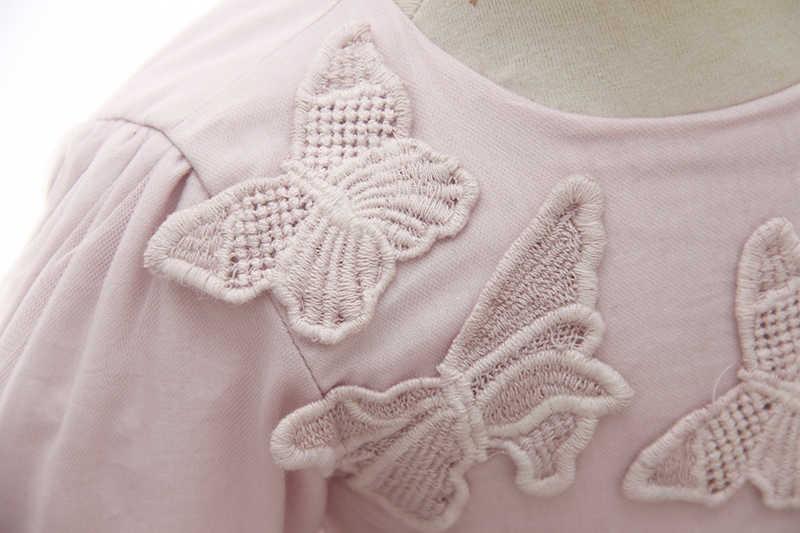 Платья с длинными рукавами для первого причастия для девочек, розовое платье-пачка с цветочным рисунком для свадебной вечеринки, детское праздничное платье, детская одежда