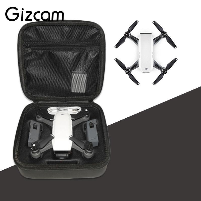 Gizcam Portable Storage Zipper Handbag Box Case for DJI Spark Drone UAV Professional Protection Bags Cases Camera Drones Gift