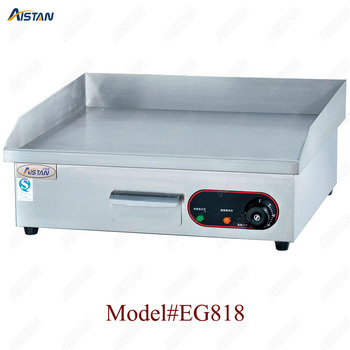 EG818 counter top desk top electric commercial grill griddle machine with grooved for kitchen equipment 1