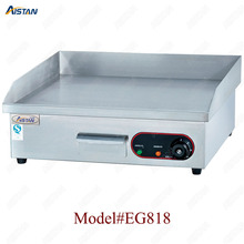 EG series counter top desk top electric commercial grill griddle machine with grooved for kitchen equipment