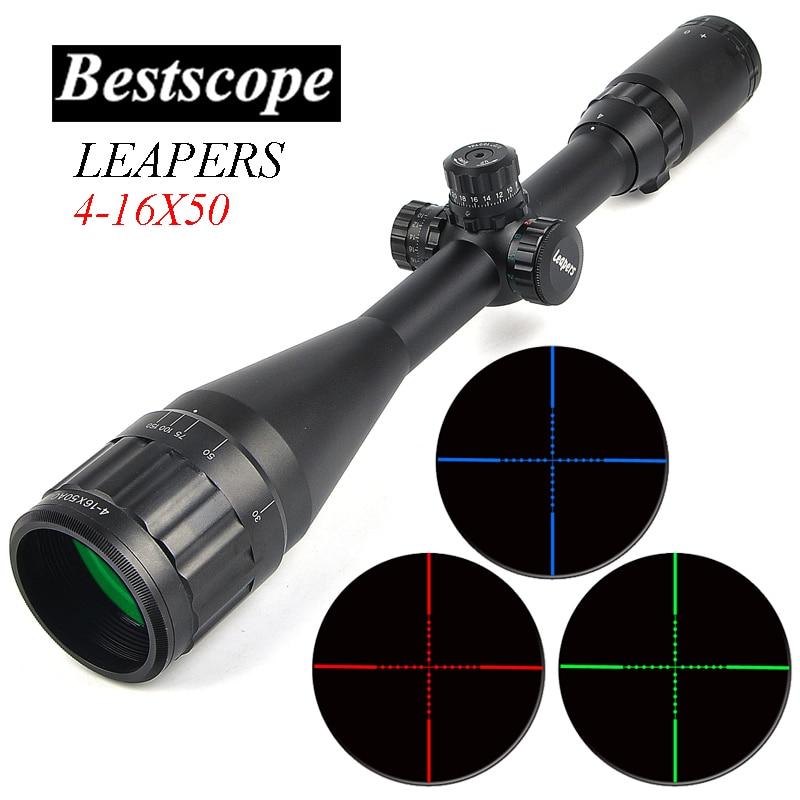 LEAPERS 4-16X50 Optic Riflescope Hunting Scopes Sniper Scope Tactical Rifle Scope Airsoft Guns Luneta Para Rifle Caza оптика leapers