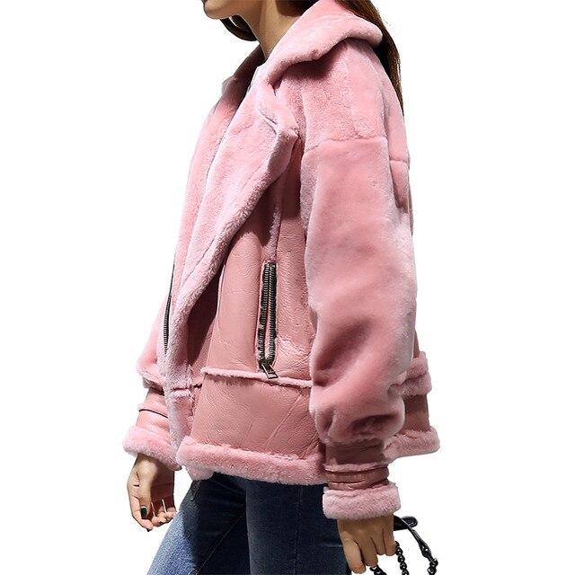 Зимние Ягнят Шерстяной Жакет Женщин Плюс Бархат Хлопка Пальто Короткая Куртка Манто Femme Женщины Базовая Пальто Вскользь Куртка Бомбардировщика C2760