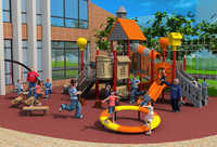 Standard exported outdoor plastic playground equipment park slide YLW-OUT171072