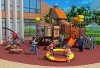 Стандартный экспортировали открытый пластиковые площадка парка оборудования слайд YLW OUT171072