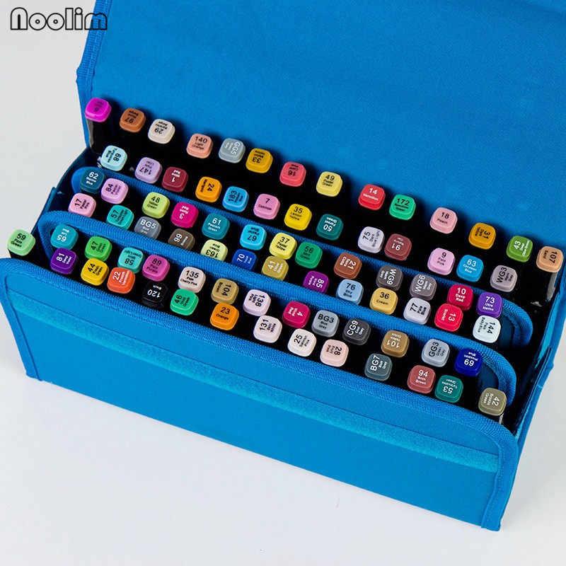 4 màu sắc 80 Lỗ Markers Pen Túi Xách Văn Phòng Nghệ Thuật Markers Pen Túi Nghệ Sĩ Phác Thảo Copic Markers túi Bút Cho Hoạt Hình thiết kế