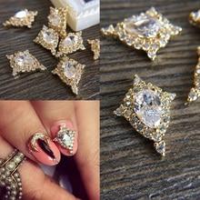 Alliage de Zircon 3D 10 pièces, accessoires de luxe, lune, perceuse pour ongles, bijoux niveau supérieur, décorations de beauté des ongles