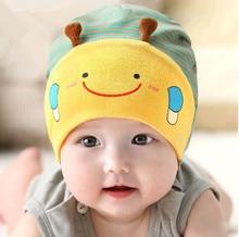 Nouveau 2016 automne Hiver Chapeaux de Bande Dessinée Infantile Rayé Bonnets bébé Garçon/Girlri Chapeaux beau chapeau d'abeille (0-24month)