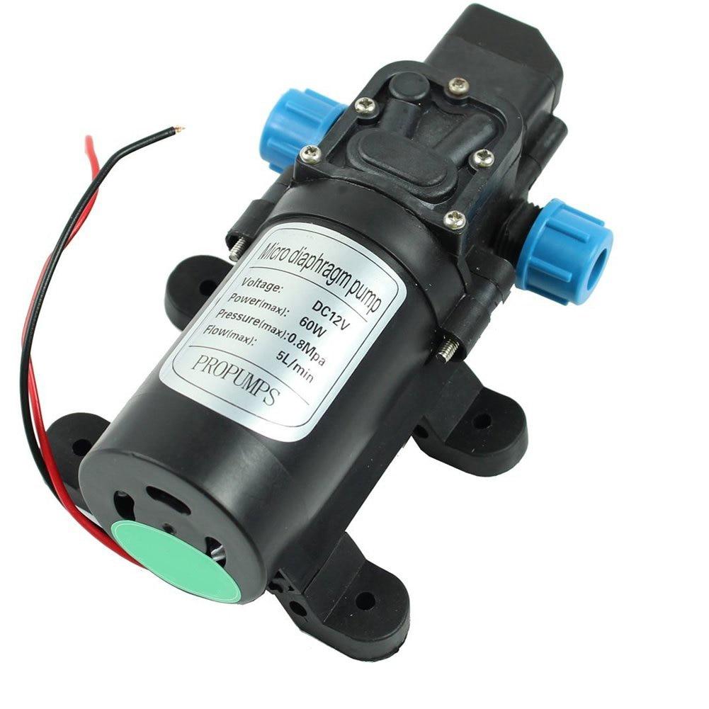 Mini Electric Water Pump DC 12V 60W High Pressure Micro Diaphragm Water Pump Automatic Switch 5L/min ntelligent
