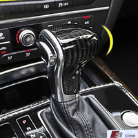 For Audi carbon fiber shift handle modified gear accessories A4/A5/A6/A7/Q5/Q7/S6/S7 car stickers interior