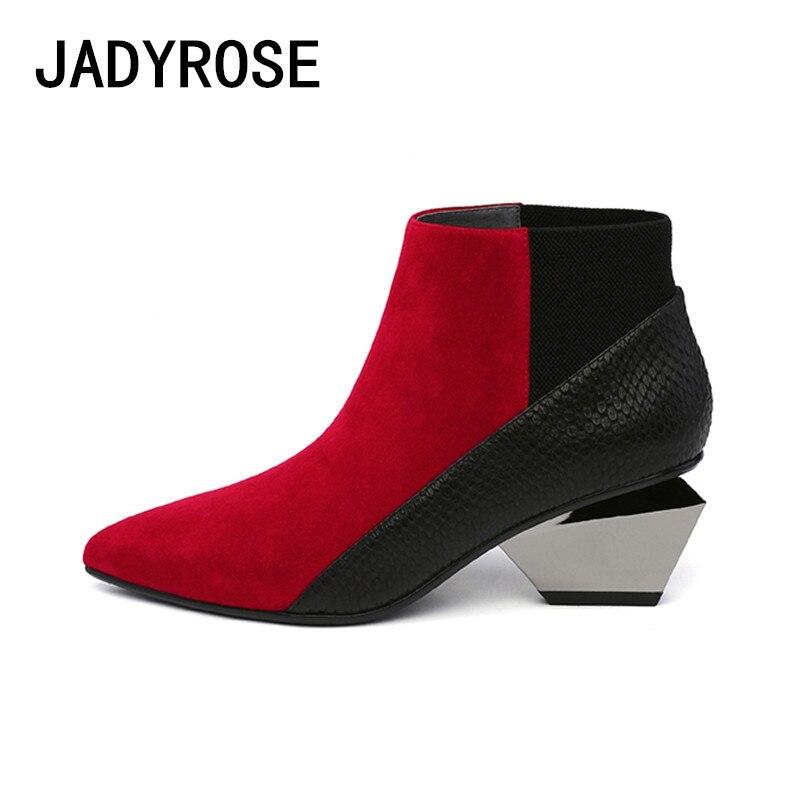 Tacchi A Chelsea Femme Misto rosso Il Nero Caviglia Da Rosso