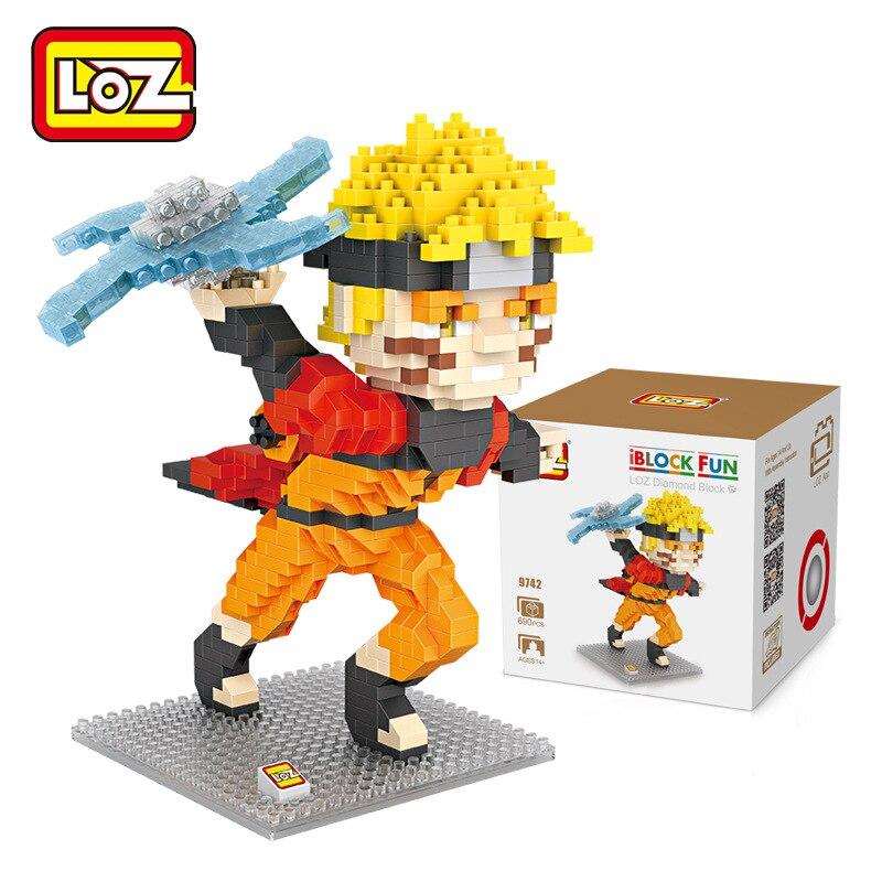LOZ Diamant Blocs Uzumaki Shippuden Action Figure Anime Japonais Ninja Micro Briques Assemblee Jouet Batiment Kits Rasengan 9742