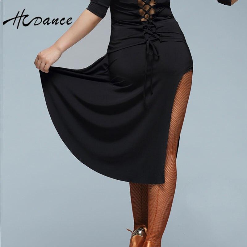 Hcdance Latin dance skirt Salsa Tango Rumba flamengo Ballroom irregular dance skirt bottoms A245
