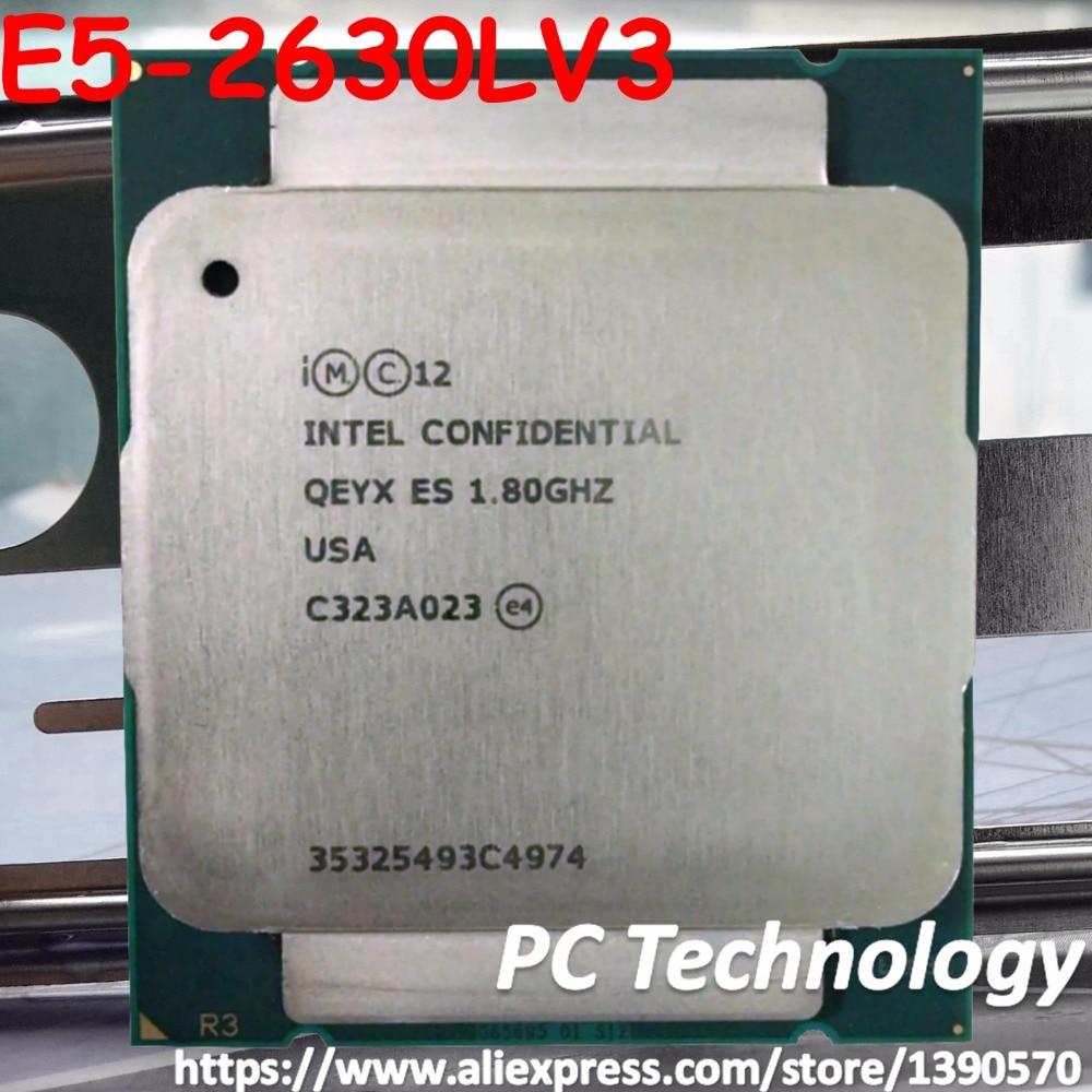 Original Intel Xeon ES QEYX E5 2630LV3 CPU 8 core 1 8GHZ 20M LGA2011 3 E5