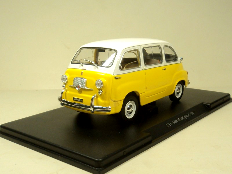ФОТО Out of print Fine WhiteBox 1:24 FIAT 600 Multipla 1960 Alloy car model Collection model Holiday gifts