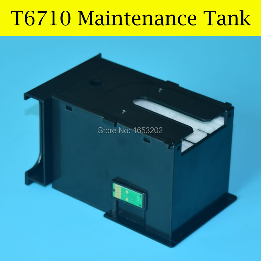 1 PC T6710 Waste Ink/Maintenance Tank For Epson For EPSON 3620 3640 7610 7620 3620DWF 3640DTWF 7110DTW 7610DWF 7620DTWF Printer best price stable maintenance ink tank for epson surecolor t3070 t5070 t7070 printer waste ink tank