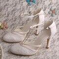 Marca t-correa de los zapatos nupciales del partido de la boda tacones altos bombas nupciales Dropshipping