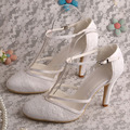 Name Brand T-strap Bridal Party Shoes Wedding High Heels Bridal Pumps Dropshipping