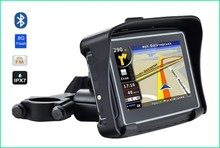 New Car GPS Motorcycle gps navigation 4.3″ TFT Bluetooth with IPX65 Waterproof gps navigation free map