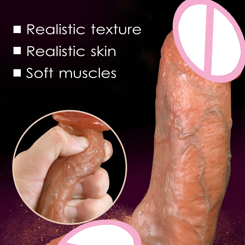 Skin feeling Realistic Penis Super Huge Big Dildo With Suction Cup Sex Toys for Woman Sex Products Female Masturbation Cock 7 5 inches flesh realistic dildo fake penis cock with suction cup sex toys for women female masturbation device sex products