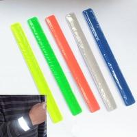 2 pcs lot 30cm length reflective wristband slap band for visibility safety use free shipping.jpg 200x200