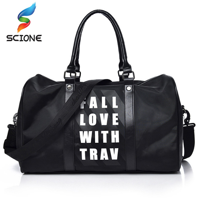7cfb77ba157eb0 Top Nylon Outdoor Men Sports Gym Bag Women Fitness Shoulder Bag Waterproof  Travel Rucksack Hide Training Female Yoga Duffel Bag