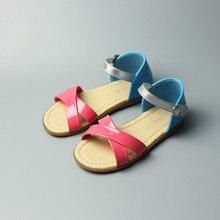 2017 Nouvelles Filles Sandales De Couleur de Sucrerie De Mode Sandales pour Filles Chaussures d'été Princesse Chaussures Enfants Sandales En Cuir PU Doux Taille 26-30