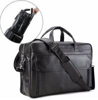 Men's Nappa Leather Large 17 Laptop Satchel Multi functional Briefcase Messenger Shoulder Bag Bussiness Office Satchel handbags