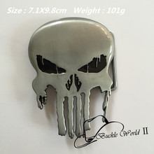 Retail New Style High quality Cool Silver Skull Metal Belt Buckles For 4cm Wide Belt Fashion Men Women Jeans accessories
