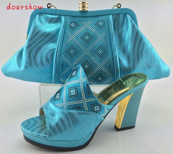doershow font b shoe b font and bag set with shiny diamonds italian font b shoe