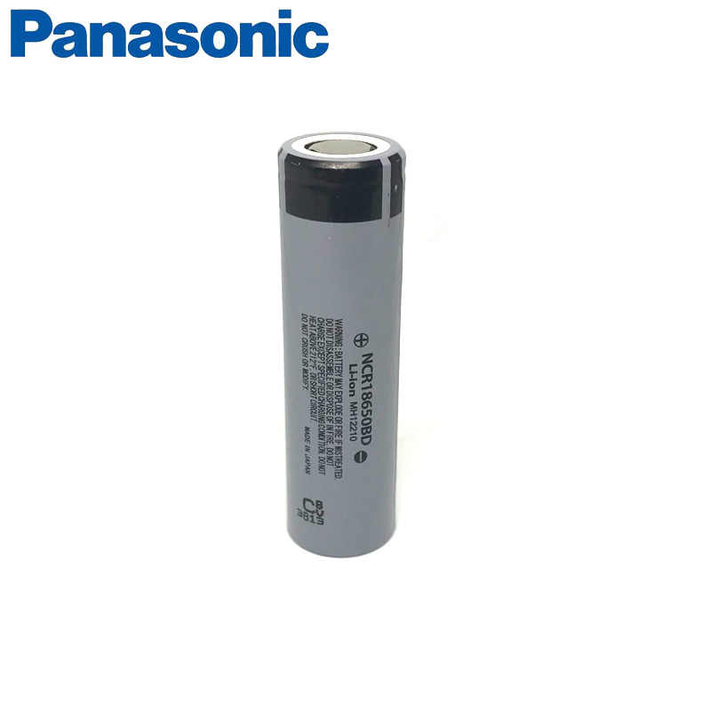 1X Panasonic 18650 battery Li-ion rechargeable battery 3.7V 3200mAh li-ion Battery NCR18650BD for Flashlight power bank notebook
