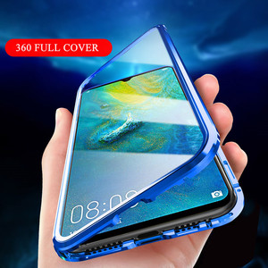 Image 3 - 360 Magnetic Adsorption Metal Case for Xiaomi mi 9 Transparent Shockproof Tempered Glass Cover for Xiaomi mi 9 se mi 9t Case