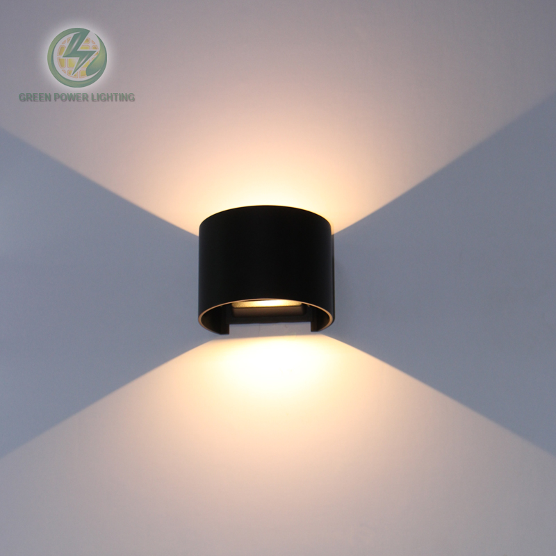 Waterproof outdoor lighting wall mounted adjustable up down led wall lamps/led wall sconce Input 85 265V