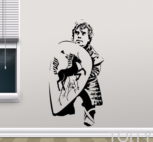 Tyrion Lannister pared Juego de tronos vinilo Movie Art decor dorm TEEM Room interior de la casa mural desprendible