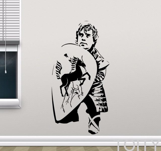 Tyrion Lannister pegatina de pared Juego de tronos vinilo calcomanía película arte decoración dormitorio Teem habitación Interior extraíble Mural