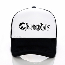 thundercats playing with lightning baseball cap Adjustable snapback summer mesh trucker hat