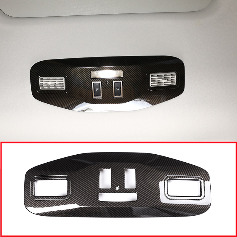 Car Interior Roof Reading Lamp Frame Decoration Cover Trim For Land Rover Discovery 5 LR5 HSE LUXURY 2017 Car Accessories 4pcs for land rover discovery 5 lr5 l462 2017 2018 sands wood grain interior door panel trim accessories