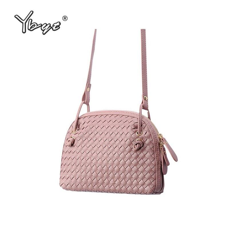 2109 New Women Shoulder bags Knitting Fashion Casual Female Crossbody bags High Quality PU Leather Shell Ladies simple Handbags knitting