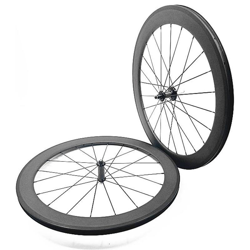carbon road wheels 700c 38mm AC3 brake side 25mm width clincher R36 ceramics hubs carbon wheels 1430g bicycle wheel 1432 Spoke