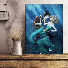 Adventures Of The Little Mermaid Wall Art Canvas Poster And Print Painting Decorative Picture Office Bedroom Home Decor